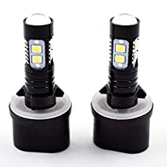 Set of 2 Please check the stock lamp part number is 880 899 before purchasing. 6000K White led bulb. Mini design, Authentic high power & premium quality COB chips & cooper heat sink design for longer life span & further light output area. Perfect rep...