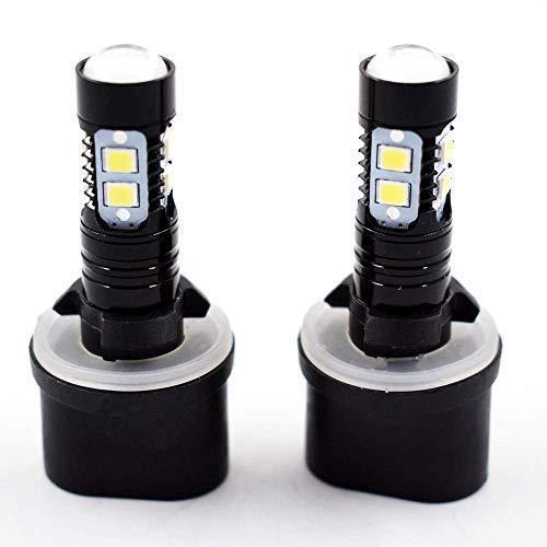 2 PCS 880 899 50W 6000K White High Power LED Projector Fog Lights Bulbs