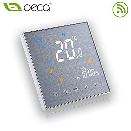 BECA 3000 Serie 3A LCD Touchscreen Wassererwärmung Intelligente Programmiersteuerung Thermostat mit WIFI-Verbindung (Wassererwärmung, Gebürstete SS(WIFI))