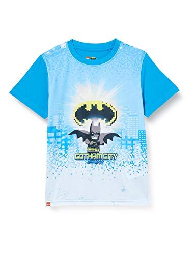 LEGO Jungen cm Batman T-Shirt, Blau (Light Blue 532), (Herstellergröße:140)