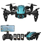 Flytise CS02 RC Drone con fotocamera 4K Wifi FPV Principiante Drone Mini Quadricottero pieghevole Giocattolo...