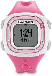 Garmin Forerunner 10–Reloj GPS negro/rojo (Refurbished Certificado), Rosado/Blanco