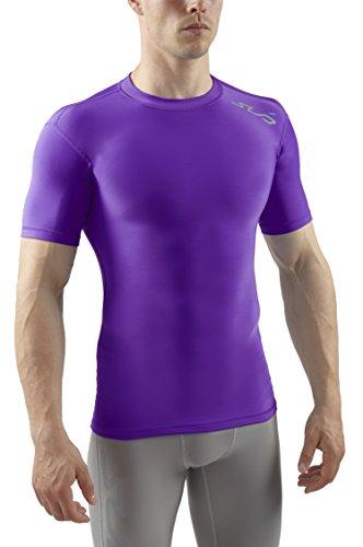 Sub Sports Cold sous-vêtement Thermique Homme/Haut de Compression Manches Courtes - Violet - S