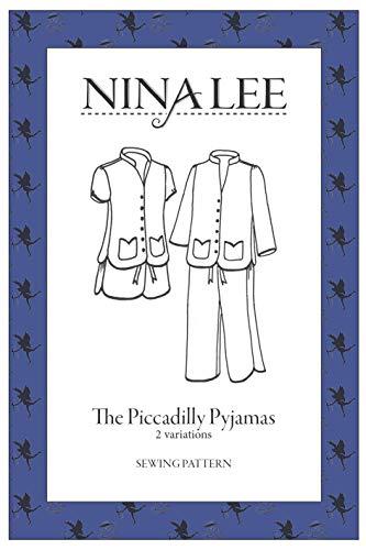 Piccadilly Schlafanzug – Anfänger Schnittmuster von Nina Lee   einfaches Schnittmuster Design   schickes Damen-Schlafanzug-Muster   UK (6-20) US (2-16) EU (34-48)