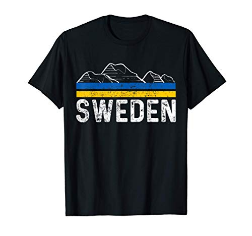 Schweden Flagge Stockholm Fahne Meer Land Küste T-Shirt