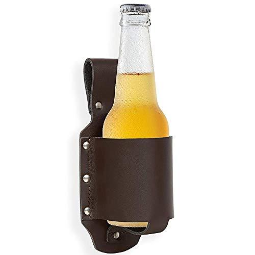 GYQCP Cartuchera para Cerveza, Funda De Cerveza/Accesorio De Cerveza Soporte De Cinturn De Cerveza De Cuero De PU para Varias Latas Y La Mayora De Botellas Pequeas 2 Piezas