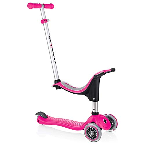 Globber 451-110 EVO 4in1 Dreiradscooter, pink, One Size