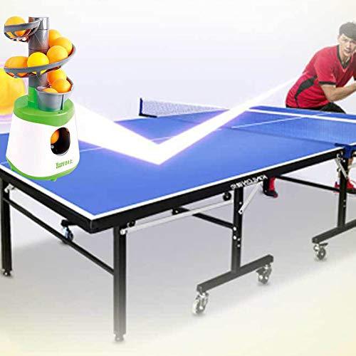 LZDseller01 Tischtenniswerfer, Tischtennisball-Maschine, Ping-Pong-Ball, Roboter-Trainingsmaschine für Ping Pong Anfänger, mit 10 Bällen, nicht null, blau/weiß, Free Size