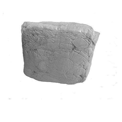 Industrieputzlappen Flanell-Bettwäsche weiß 20 kg, geschnitten nach DIN 61650