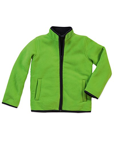ST5180=Actieve kinderen Teddy Fleece jas kleur =Kiwi groene grootte =S