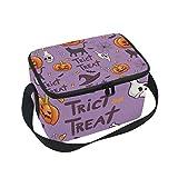 Lonchera con aislamiento para Halloween, bolsa de almuerzo grande, para niños y mujeres