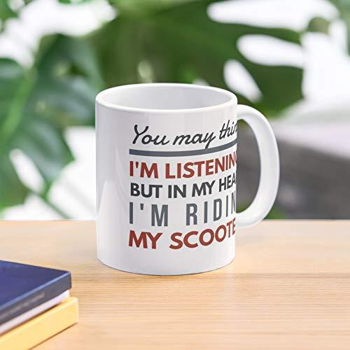 Head Scooter Mug In My -Il miglior caffè regalo 11 Oz