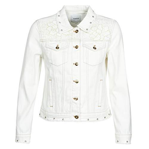 DESIGUAL BARROC Jacks/Blazers dames Wit - DE 36 (EU 38) - Spijker jassen