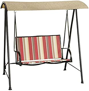 Garden Winds Striped 2-Person Sling Swing Replacement Canopy Top Cover