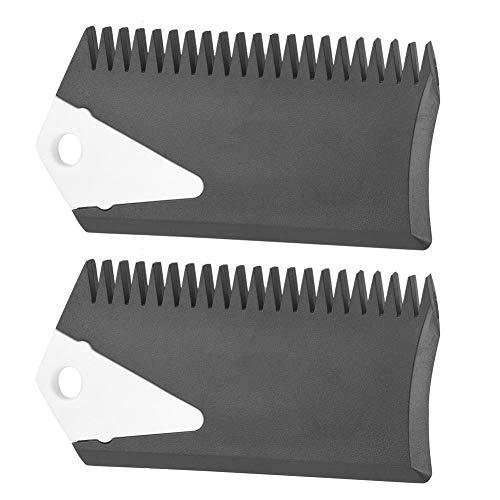 Victool Accesorio de Herramienta de Limpieza de Peine de Cera para Tablas de Surf Skateboard PVC, 2 Piezas