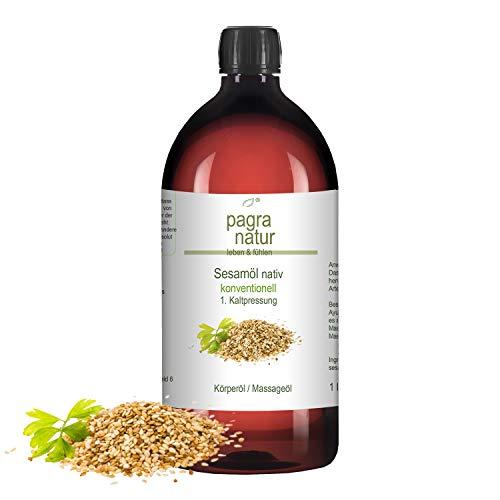 pagra natur Sesamöl nativ, 1. Kaltpressung, konventionell, 1l - Massage Öl