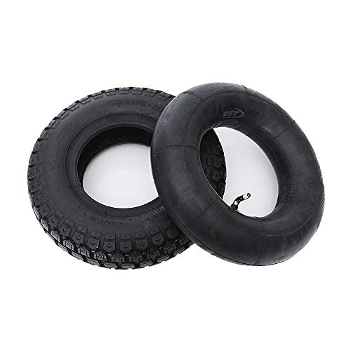 Electric Scooter Tires, 4.10/3.50-6 Rubber Pneumatic Tires, Thick and Wear-Resistant, Suitable for Warehouse Carts, Playground Electric Car Tire,Electric Scooter Tire Accessories