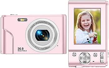 Digital Camera FHD 1080P Mini Video Camera 36MP Vlog Camera for YouTube 2.4 Inch IPS LCD Display Compact Pocket Camera with 16X Digital Zoom Anti-Shake Burst Shoot for Kids Students Teenager
