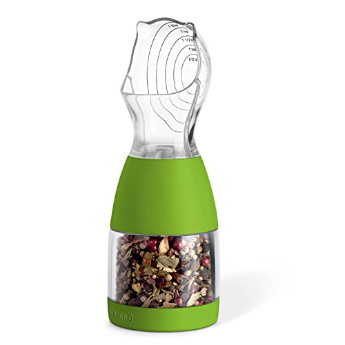 ZevrO Portion Spice Grinding/Measuring Tool, 3.4-Ounce Capacity, Green