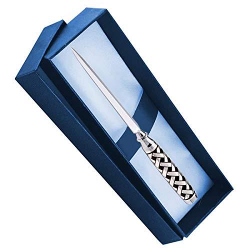 Celtic L - Abrecartas (16,5 cm, chapado en plata, en caja de...