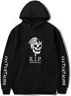 Rapper XXXTentacion R.I.P. Memorial Fluey Loose Hoodie black-XL