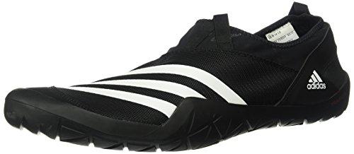 adidas outdoor Climacool Jawpaw Slip ON Walking Shoe, Black/White/Silver MET, 12 D US