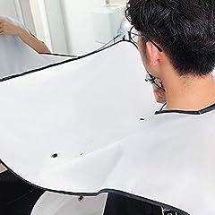 Idea Regalo - YYLE Maschio Barba Grembiule Man Bagno Nero Barba Bianca Guarnizione Trimmer Gomma Raschiatura Uomini Pulizia Impermeabile Proteggere