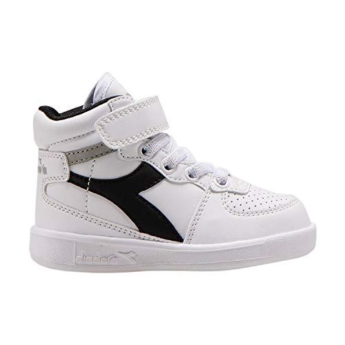 Diadora Playground H TD 101.173761 Sneaker Bambino (C7914 White/Ash/Black, Numeric_26)