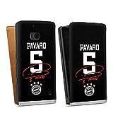 DeinDesign Tasche kompatibel mit Nokia Lumia 930 Flip Case Hülle FC Bayern München Pavard #5 Trikot