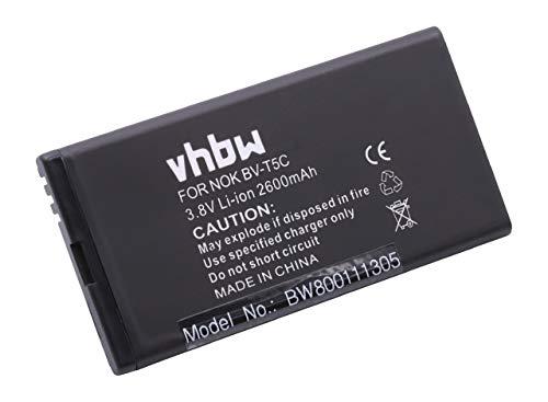 vhbw Li-Ion Akku 2600mAh (3.8V) für Handy Smartphone Handy Microsoft/Nokia Lumia 640 wie BV-T5C.