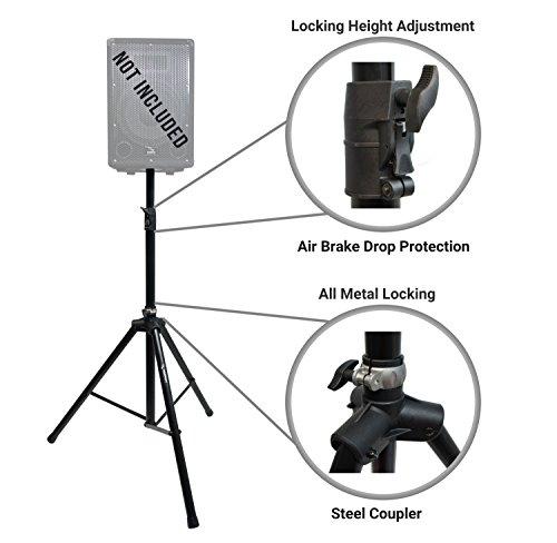 Harmony Audio HA-SSA Pro Audio DJ Single Tripod Speaker Stand with Air Brake Drop Cushion