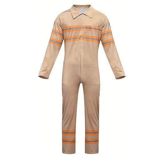 Aosida Ghostbusters kostuum kinder shirt rugzak Halloween film meisjes jongens overalls waterpistool cosplay casual lange mouw rollenspel crèmekleurige romper deluxe veilig speelgoed
