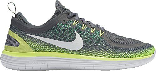 Nike Herren Men's Free RN Distance 2 Running Hallenschuhe, Mehrfarbig (Stealth/Off White-Dark Grey), 44.5 EU
