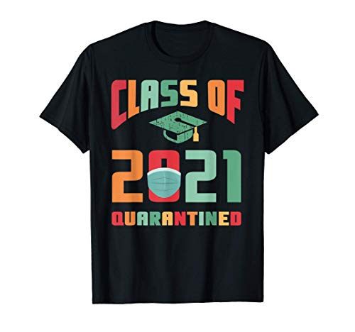 Graduation Class Of 2021 Senior Face Mask Quarantine T-Shirt