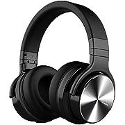 COWIN E7 PRO ワイヤレス ノイズキャンセリング Bluetooth ヘッドホン 密閉型 高音質 内蔵マイク NFC搭載 ケーブル着脱式 30時間再生 ハンズフリー通話可能 iphone PC Mac などに対応 ヘッドフォン (ブラック)