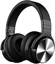 COWIN E7 PRO [Upgraded] Active Noise Cancelling Headphones Bluetooth Headphones with Microphone/Deep Bass Wireless Headphones Over Ear 30 Hours Playtime for Travel/Work/Cellphone, Black