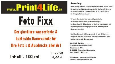 Colour Protection Spray !!! Fixierspray mit Farbschutz. Klarlack – glasklar