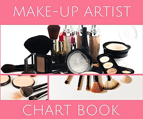 Make-Up Artist Chart Book: Complete Blank Makeup Face Chart Worksheets for Makeup Professionals and Makeup Lovers 6x9 200 Pages (English Edition)