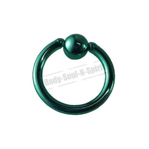 Turquoise Cercle 7mm BSR Perçage corps Boule Nez Lèvre Cartilage Oreille 316L acier