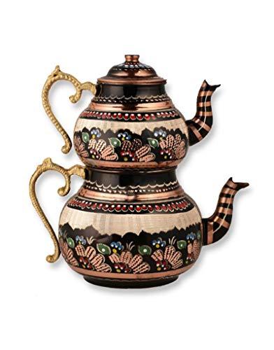 Juego de tetera tradicional turca de té (rojo claro)