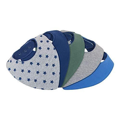 Lilly and Ben® Dreieckstuch Halstuch Baby - saugstark doppellagig weich - Geschenk-Box - Sabberlätzchen Sabber-Tuch Spuck-Lätzchen Junge-n - 6 nickelfreie Druckknöpfe - 5er Set