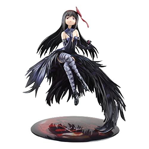 KPSHY Puella Magi Madoka Akemi Homura Demon Flame Figura De Acción Modelo GK Anime Figura Personaje Juego Personaje Estatua Material De PVC Oficina En Casa Escritorio Decoración Altura 24 CM