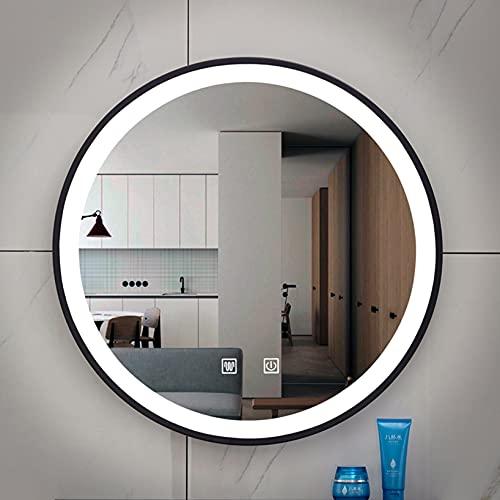 LBYDXD Espejo de baño LED Redondo, Espejo de Pared de...