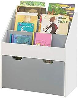 SoBuy KMB17-HG Librería Infantil para niños con 3 estanterías y 1 cajón Estantería estándar Infantil H70cm ES