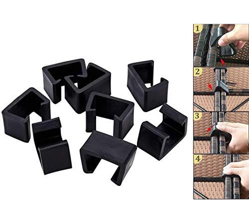 8 clips de mimbre para muebles de patio al aire libre, 8 piezas seccionales de ratán, para muebles de ratán, para conectar la sección o módulo al aire libre muebles de patio
