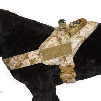 Elite K-9 Tactical Patrol Harness w/Cobra Buckle - Desert Digital