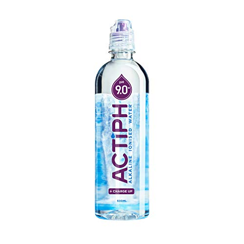 Alkaline Ionised Spring Water pH9+ (24x 600ml) Purified with Electrolytes...