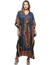 Riviera Sun African Print Dashiki Maxi Caftan for Women