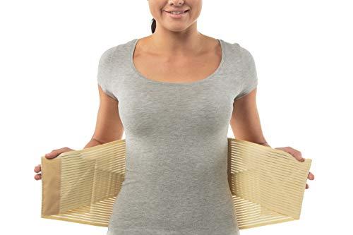 Fascia per schiena lombare | Fascia lombare supporto schiena per donna e uomo di aHeal | Fascia lombare per mal di schiena ortopedico medico | Taglia 6 Pelle