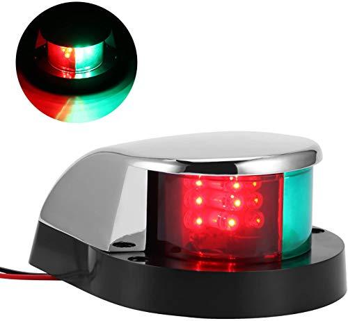 TopHGC Navigationslichter Boot Marine LED, 12V LED Boot Marine Buglicht Rot Grün Segel Signalleuchten für Boot Ponton Yacht Skeeter